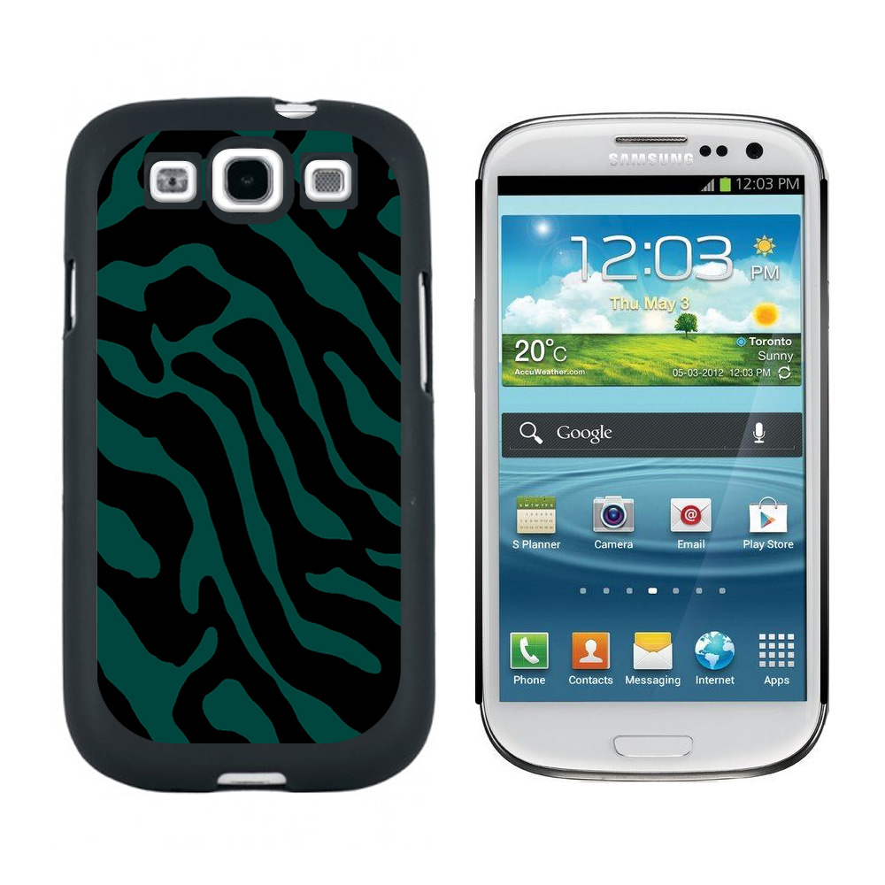 Zebra Print Teal Galaxy S3 Case