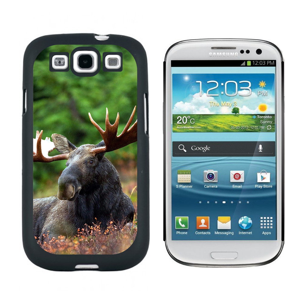 Moose Male Bull Antlers Galaxy S3 Case