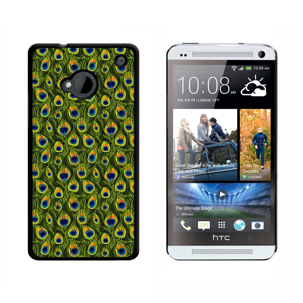 Peacock Print HTC One Case