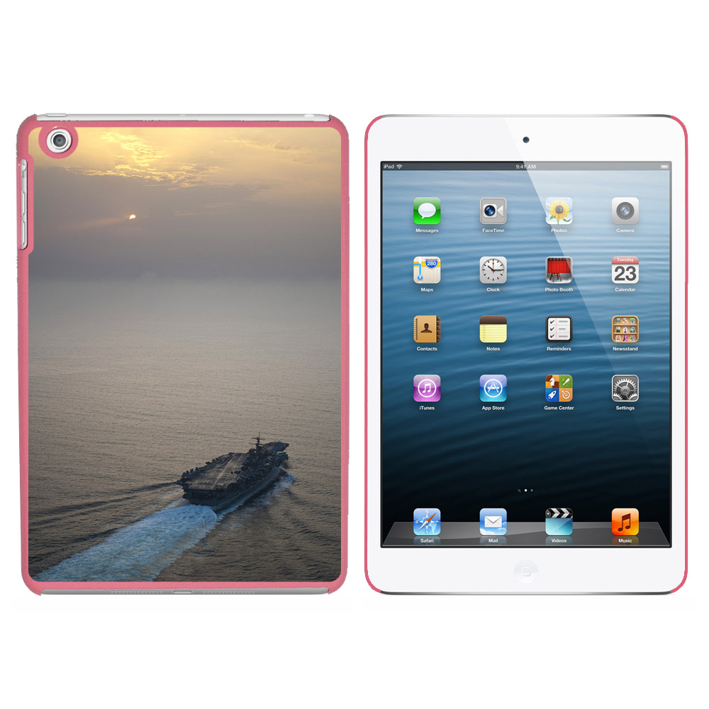 Graphics and More United States Navy Aircraft Carrier USS Enterprise Snap On Hard Protective Case for Apple iPad Mini - Pink at Sears.com