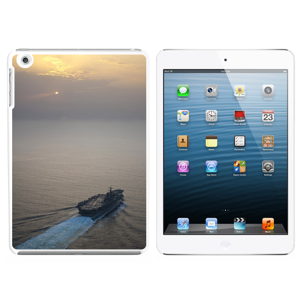 Graphics and More United States Navy Aircraft Carrier USS Enterprise Snap On Hard Protective Case for Apple iPad Mini - White at Sears.com