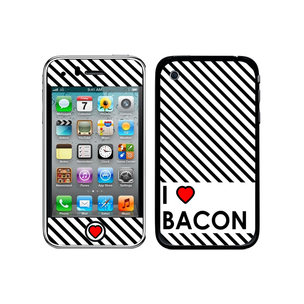 I Love Heart Bacon iPhone 3G/3GS Skin