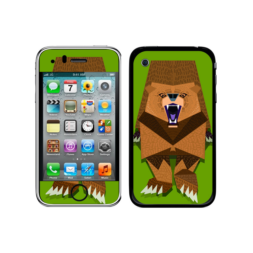 Roaring Bear Geometric Brown Galaxy iPhone 3G/3GS Skin