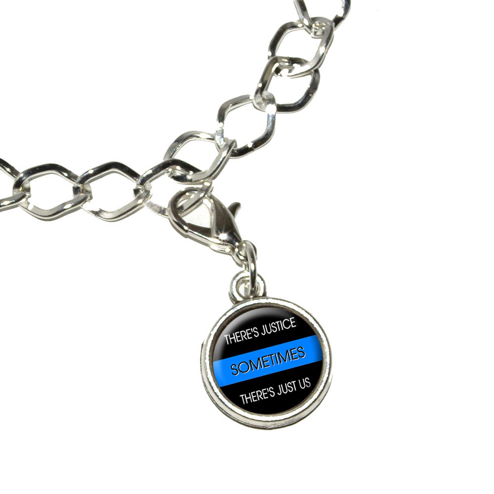 thin blue line sometimes justice just us bracelet