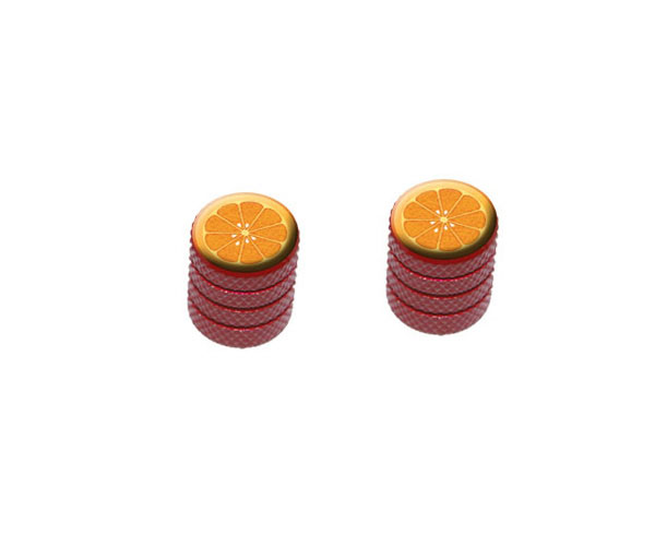 Orange-Slice-Fruit-Motorcycle-Bike-Bicycle-Tire-Rim-Wheel-Valve-Stem-Caps