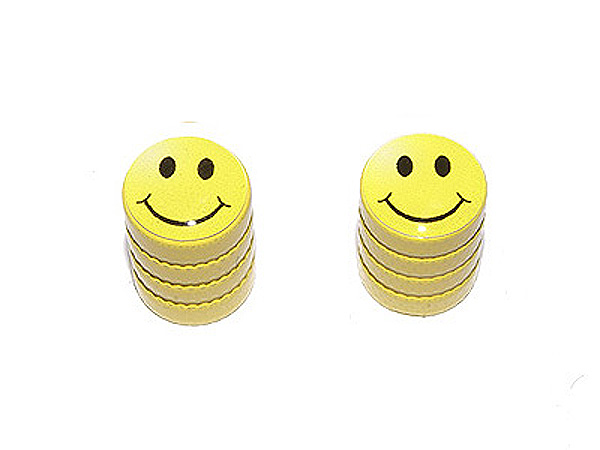 Smiley Smile Face Motorcycle Bicycle Tire Valve Stem