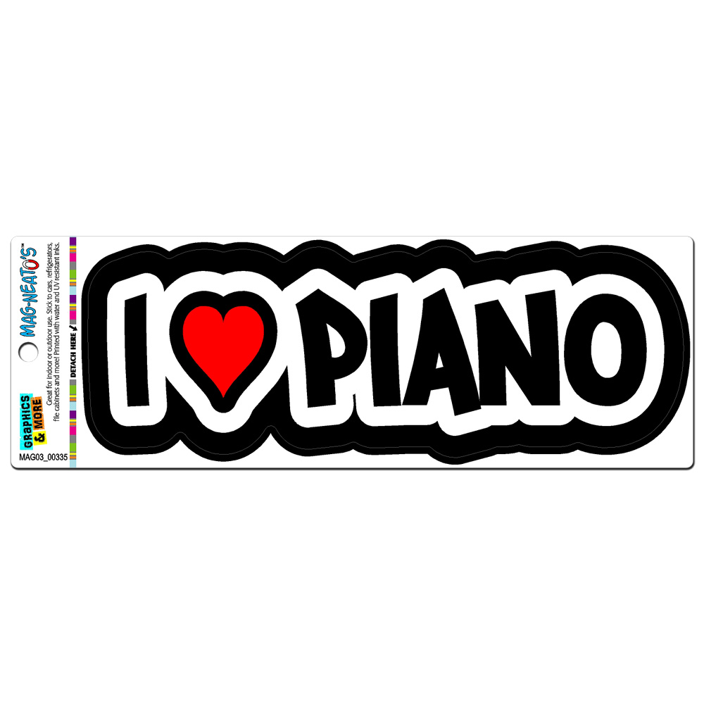 I Love Heart Piano MAG-NEATO'S(TM) Car/Refrigerator Magnet