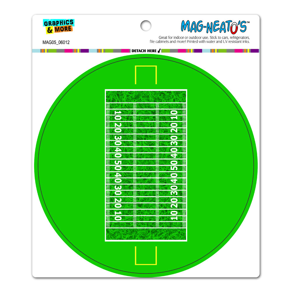 Football Field - Circle MAG-NEATO'S(TM) Car/Refrigerator Magnet