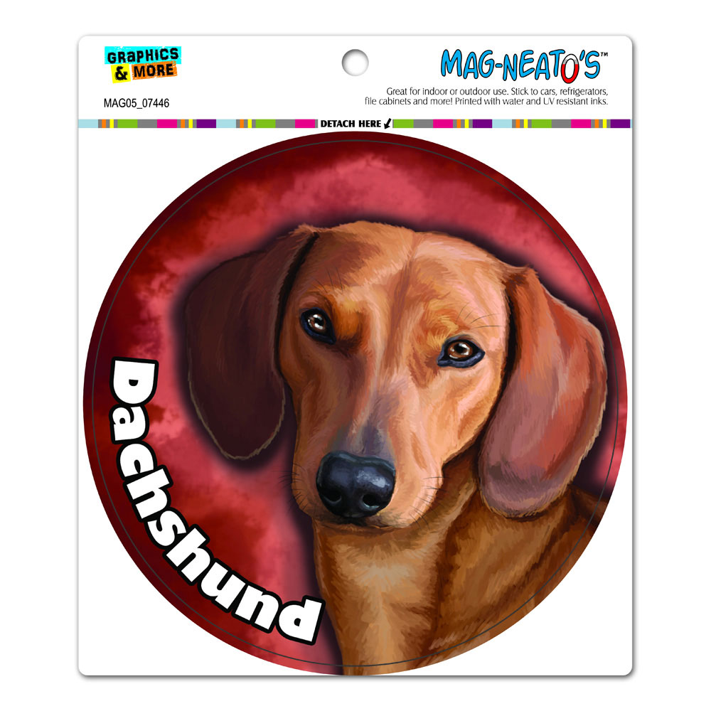 Dachshund Weiner Dog - Pet Circle MAG-NEATO'S(TM) Car/Refrigerator Magnet
