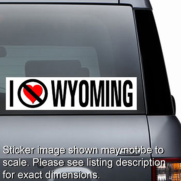 I Hate Wyoming Sticker