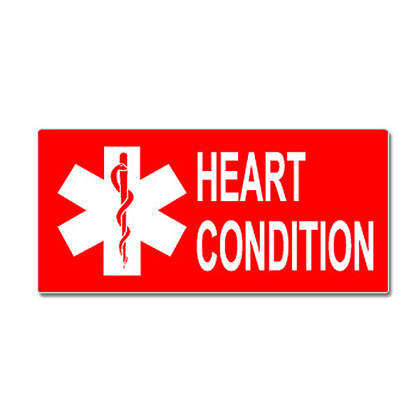 Heart Condition With Star Of Life Sticker