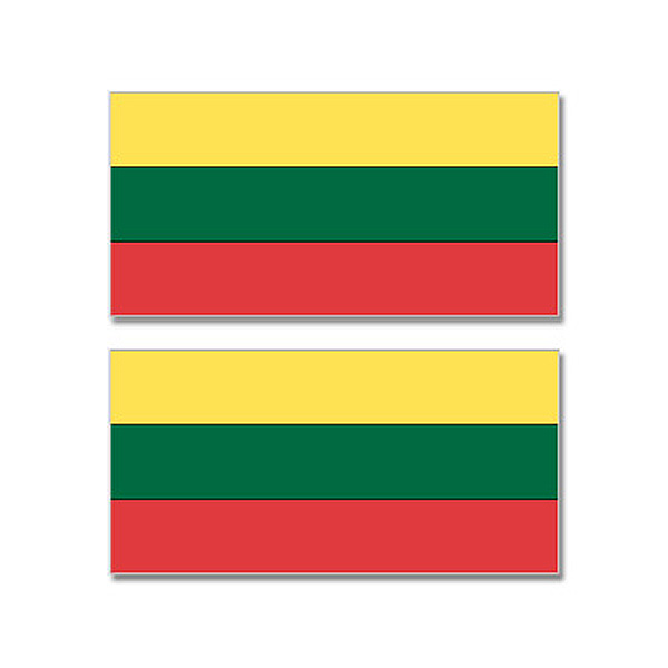 Lithuania Country Flag Sheet of 2 Stickers